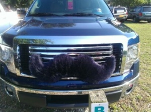 Mustache on a truck